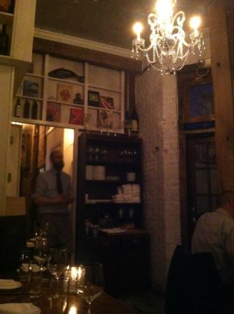 Aroma Kitchen & Winebar: the eclectic back room...