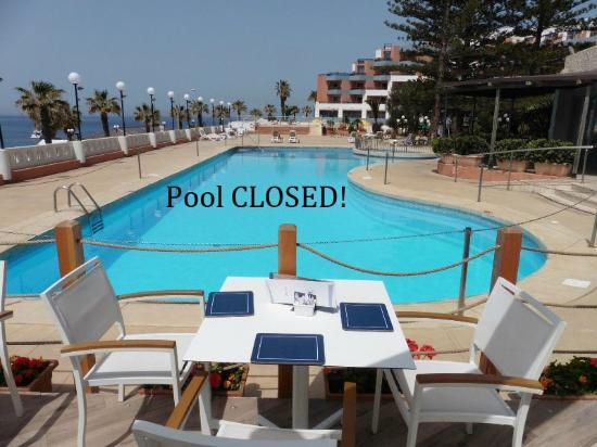 Dolmen Resort Hotel: Closed off pool, it was frowned upon to use this pool, not sure if it's just for show!