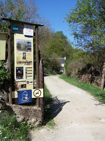 La Vallée Troglodytique des Goupillières : L'entrée du site