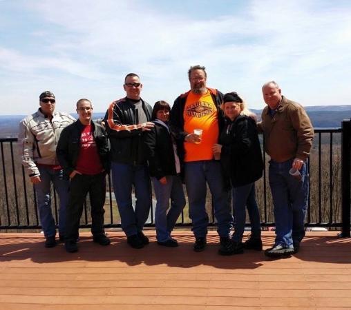 Penn's Peak: April 19, 2015 motorcycle poker run with great friends