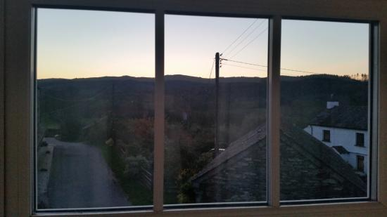 Crosslands Farm: view at sunset from my room