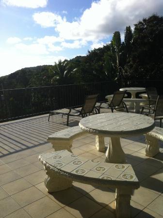 Ceiba Country Inn: Espace en commun face à la vallée
