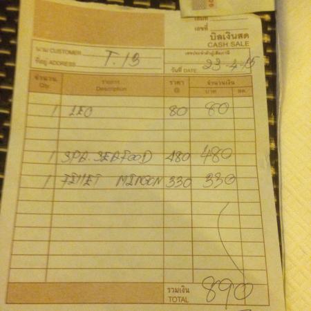 Baan pla Rawai Bouillabaisse : Reasonable prices