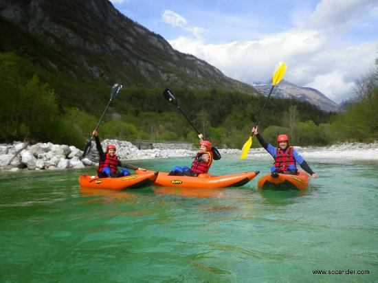 Soca Rider: White water kayaking on the river Soca :)