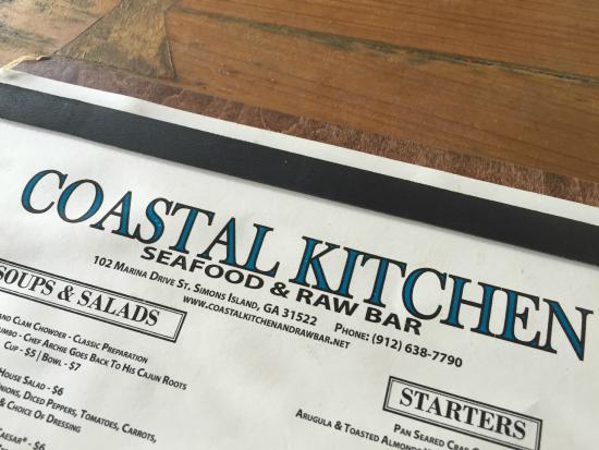 Coastal Kitchen St Simons Island Ga | On The Causeway At The River Marina Picture Of Coastal Kitchen