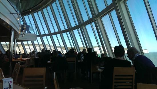 MyFerryLink Calais - Dover : Frontscheibe im Panoramarestaurant