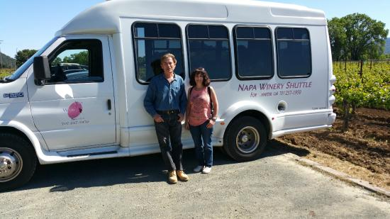 Napa Winery Shuttle: The Shuttle with our driver Lawrence