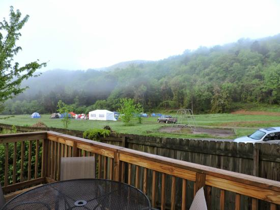 Raccoon Mountain RV Park and Campground: View from Cabin #9