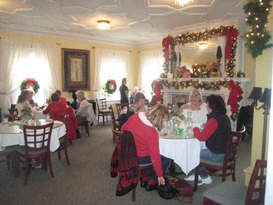The Historic Wilson Vaughan Hostess House Fireplace Dining Room