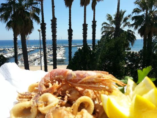 Hotel Ristorante Principe Decurtis : fritto misto sulla terrazza Decurtis