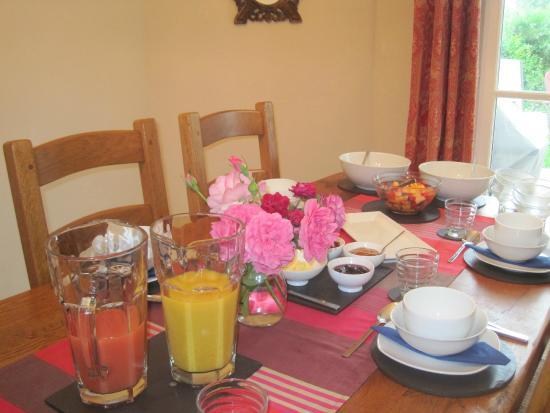 Les Renards : Breakfast room