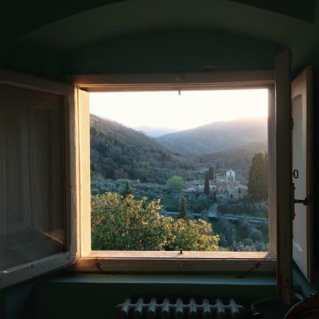 Petrolo: View from one of the upstairs bedrooms