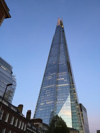 The walking distance to the Shard is actually not short.