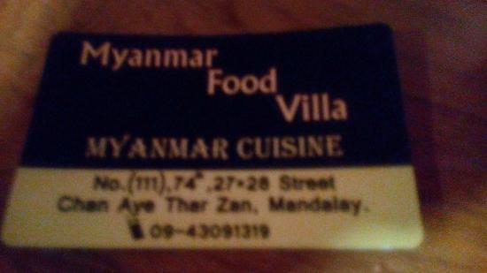 Myanmar Food Villa
