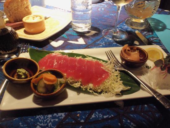 Paia, Havaí: Ahi tuna sushimi