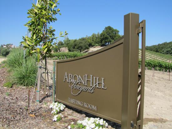 AronHill Vineyards: Entrance from Highway 46