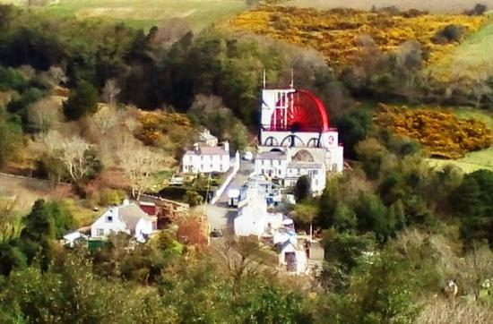 The Rutland Hotel: Laxey wheel taken from mountain train