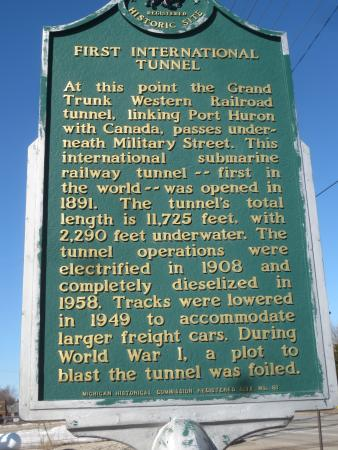 Port Huron, MI: Historic marker