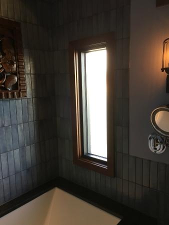 Frosted Window Over Spa Tub In Master Bathroom Picture Of
