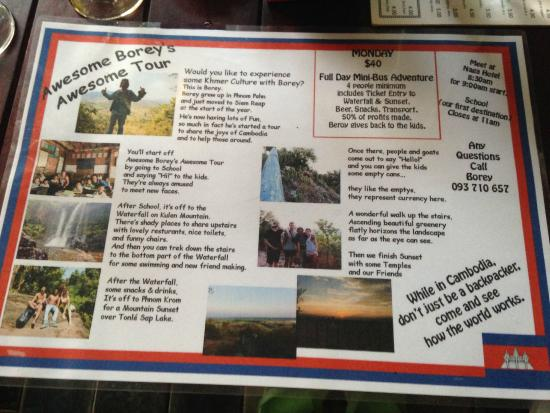 Naga Angkor Hostel: This is Borey's Tour - we didn't know about it until the night we left.
