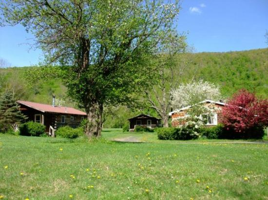 Big Indian, Нью-Йорк: Cabins on a Spring Day at Cold Spring Lodge