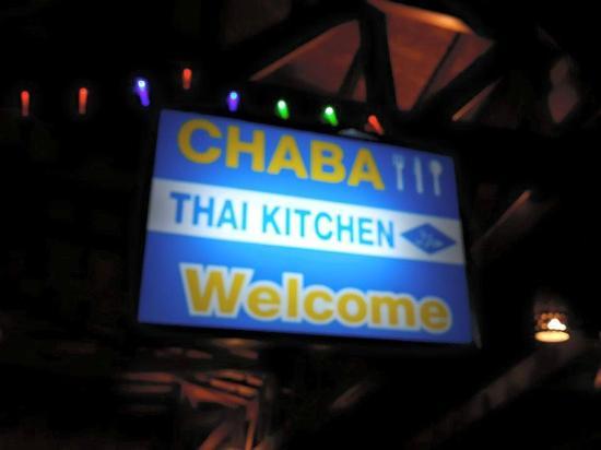 Chaba Thai Kitchen : The restaurant