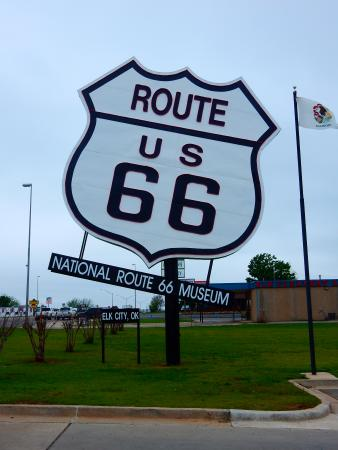 Elk City, OK: Perhaps the Largest Route 66 sign in Existence