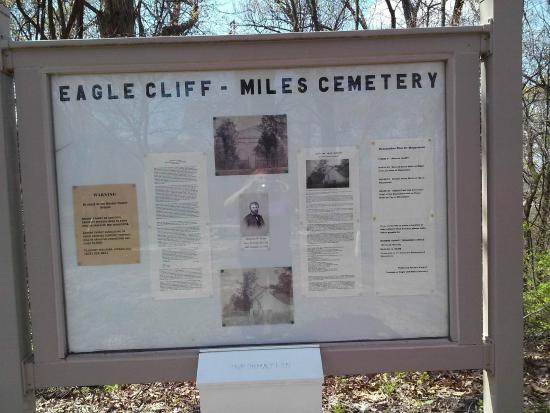 วอเตอร์ลู, อิลลินอยส์: Information sign at the entrance tells history of the cemetery, and the group formed to restore