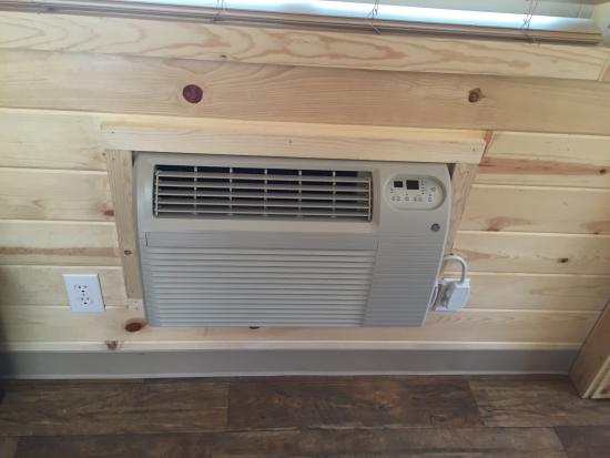 Wall mounted air conditioner inside of cabin - Picture of