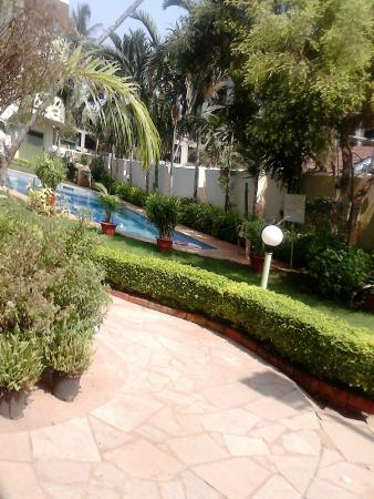 Sharanam Green: pool area