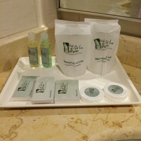 Hotel De' La Ferns: Bathroom amenities