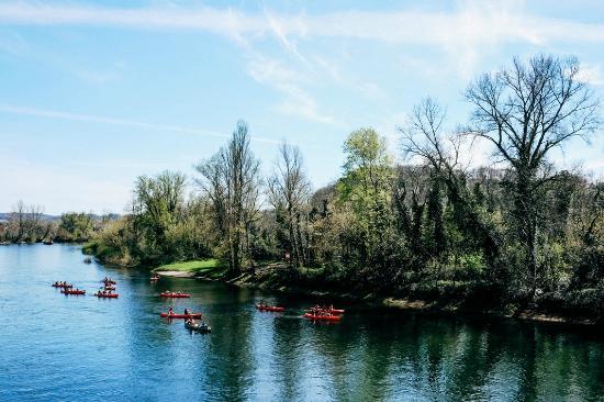 La Plume d'Oie : View on the Dordogne river
