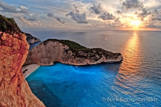 Volimes, Greece: Shipwreck Beach at Sunset