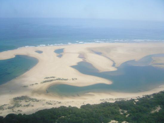 Inhaca Island, Mozambique: L'île vue du ciel