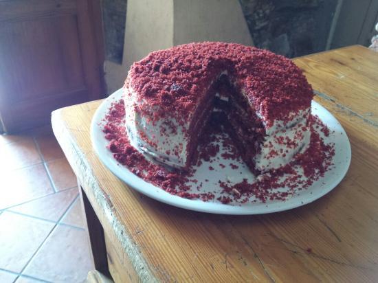 Red velvet . Con crema yogurt e caramello salato