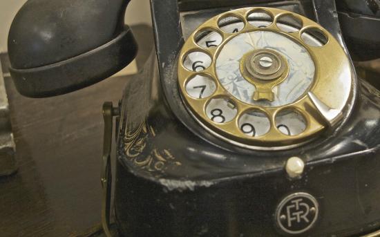 Кендал, UK: Vintage telephones.