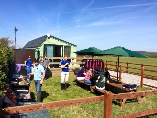 J F Polo Academy: Eating a BBQ Lunch Kindly Provided by JF