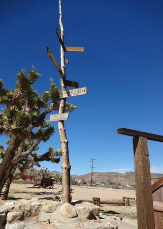Pioneertown Direction Sign