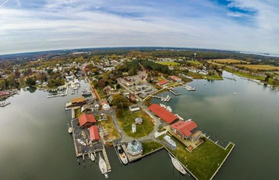 Chesapeake Bay Maritime Museum: An aerial view of campus, from our friends at Mid-Atlantic Aerial Photography