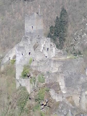 Manderscheid, Tyskland: Nahaufnahme Niederburg