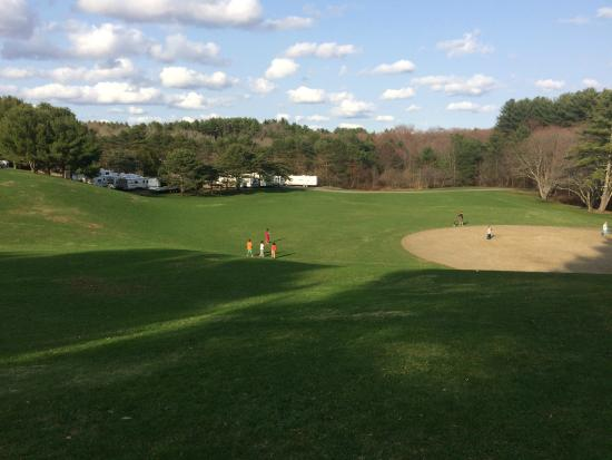 Normandy Farms Family Camping Resort: View of Softball field