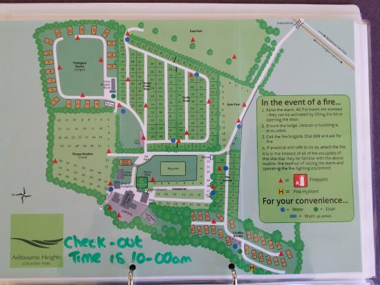 Ashbourne Heights Holiday Park: Map Of The Site