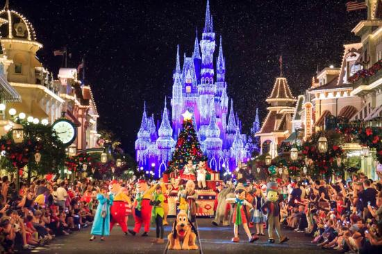 Cinderella Castle Christmas.Cinderella S Castle At Christmas Picture Of North Carolina
