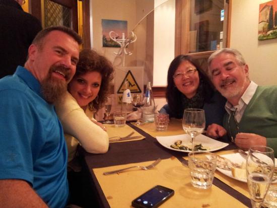 Bruno alla Lungaretta: Grant, Jill, Rosangela and Carlos