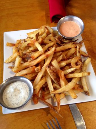 The Eagle Drive-In: Hand cut fries with dipping sauce