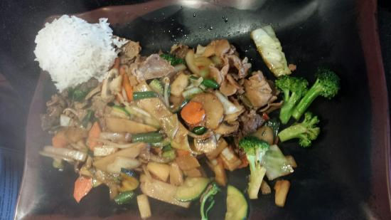 Wok On Fire: Grill. My lunch. Another's bowl before cooking.