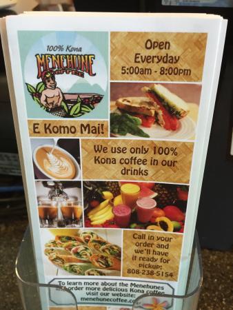 Menehune Coffee Company : Inside of King Kamehameha hotel