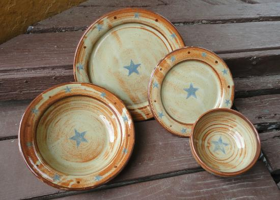 Texas Star Stoneware Dinnerware Picture of Luling Icehouse Pottery . & Texas Star Stoneware Dinnerware Picture of Luling Icehouse Pottery ...