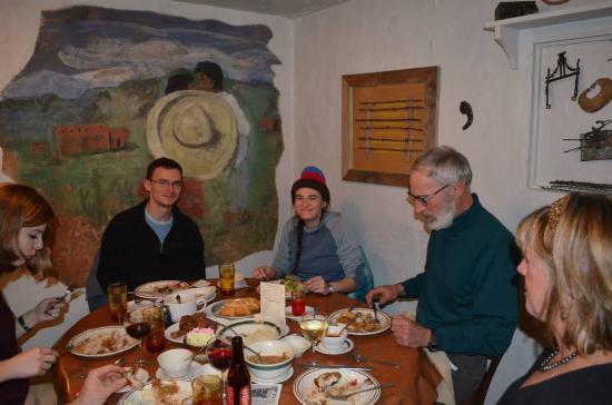 Dining Room Near Entrance Juniper Valley Ranch Customers Enjoying A Meal