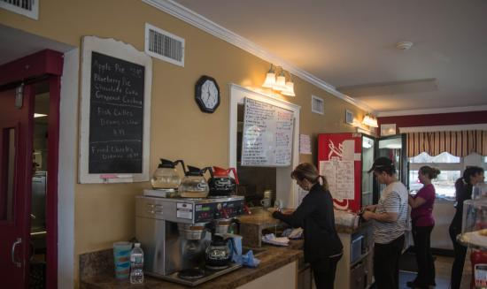 Charlie's Place: behind the counter